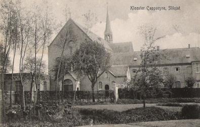 Paterskerk met St. Antoniuszaal en klooster in 1906