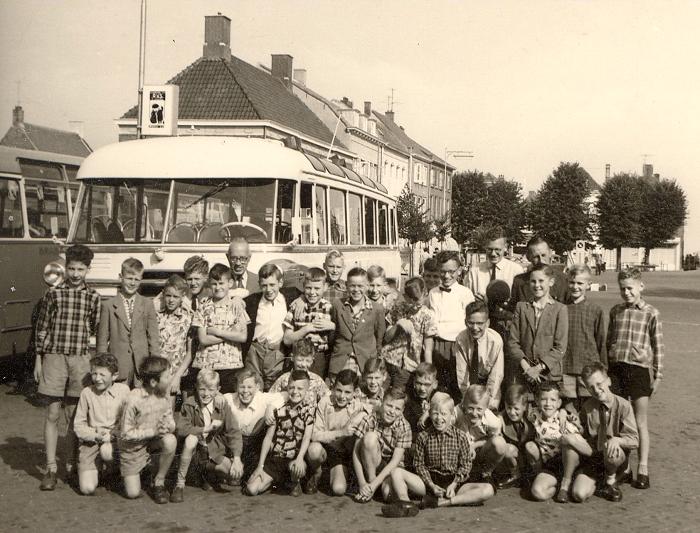 Reisje van het jongenskoor half vijftiger jaren
